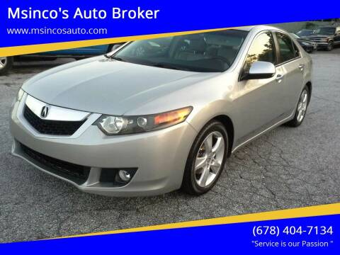 2009 Acura TSX for sale at Msinco's Auto Broker in Snellville GA