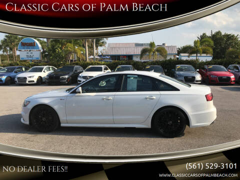 2017 Audi A6 for sale at Classic Cars of Palm Beach in Jupiter FL