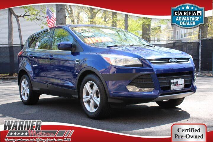 2013 Ford Escape for sale at Warner Motors in East Orange NJ