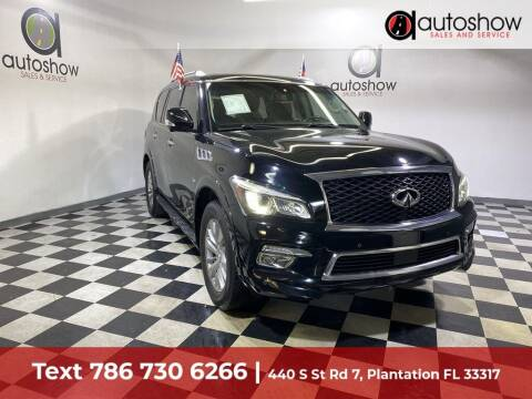 2016 Infiniti QX80 for sale at AUTOSHOW SALES & SERVICE in Plantation FL