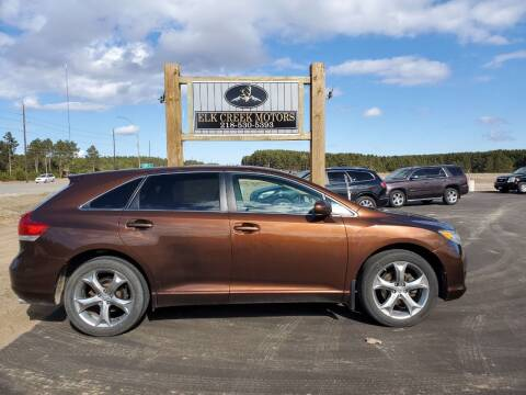 2010 Toyota Venza for sale at Elk Creek Motors LLC in Park Rapids MN