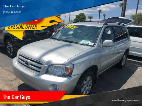 2006 Toyota Highlander for sale at The Car Guys in Tucson AZ