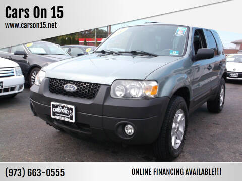 2007 Ford Escape for sale at Cars On 15 in Lake Hopatcong NJ