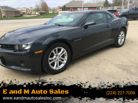 2015 Chevrolet Camaro for sale at E and M Auto Sales in East Dundee IL