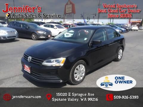 2016 Volkswagen Jetta for sale at Jennifer's Auto Sales in Spokane Valley WA