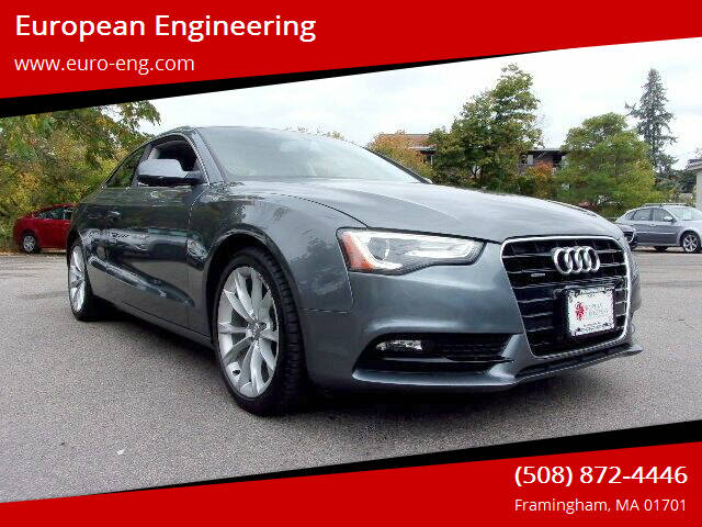 2013 Audi A5 for sale at European Engineering in Framingham MA