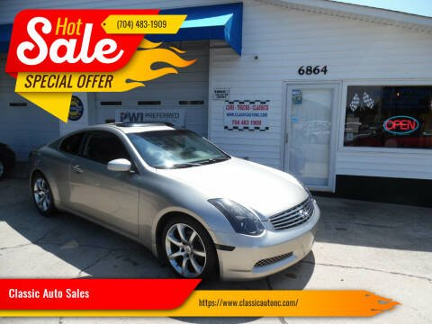 2004 Infiniti G35 for sale at Classic Auto Sales in Maiden NC