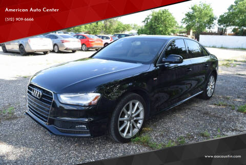 2016 Audi A4 for sale at American Auto Center in Austin TX
