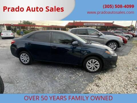 2017 Toyota Corolla for sale at Prado Auto Sales in Miami FL