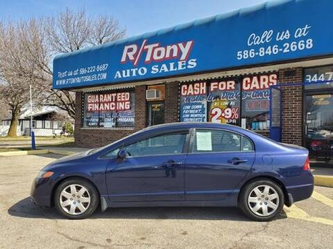 2008 Honda Civic for sale at R Tony Auto Sales in Clinton Township MI