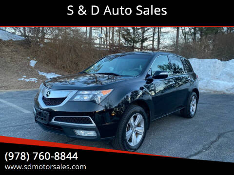 2011 Acura MDX for sale at S & D Auto Sales in Maynard MA