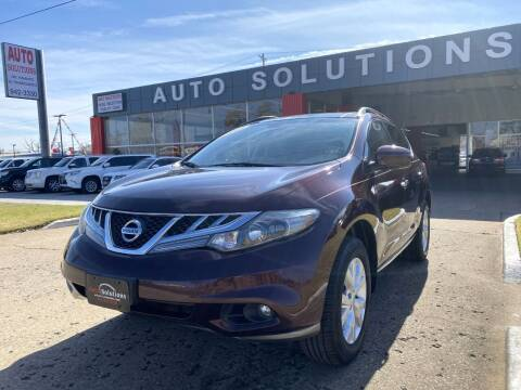 2013 Nissan Murano for sale at Auto Solutions in Warr Acres OK