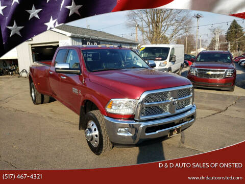 2015 RAM Ram Pickup 3500 for sale at D & D Auto Sales Of Onsted in Onsted   Brooklyn MI