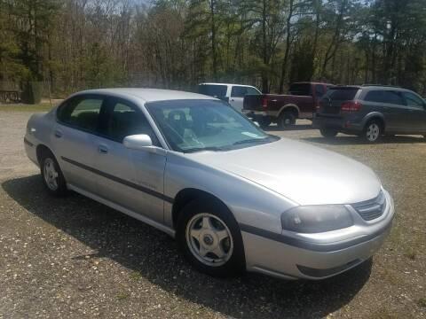 2002 Chevrolet Impala for sale at MIKE B CARS LTD in Hammonton NJ