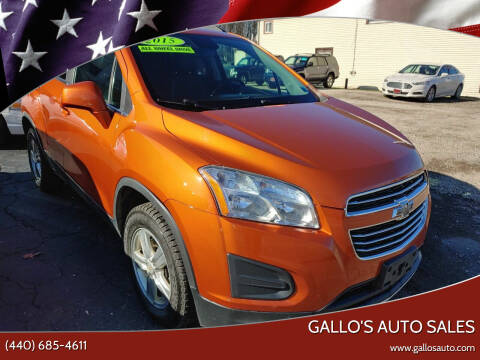 2015 Chevrolet Trax for sale at Gallo's Auto Sales in North Bloomfield OH