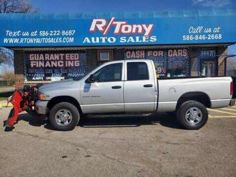 2004 Dodge Ram Pickup 2500 for sale at R Tony Auto Sales in Clinton Township MI