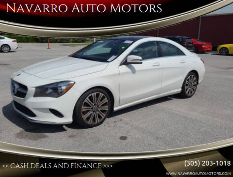 2018 Mercedes-Benz CLA for sale at Navarro Auto Motors in Hialeah FL