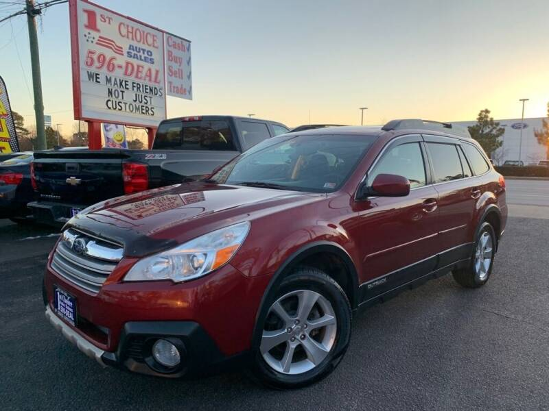 2013 Subaru Outback for sale at 1st Choice Auto Sales in Newport News VA