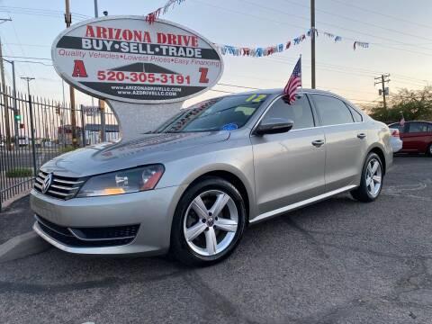 2012 Volkswagen Passat for sale at Arizona Drive LLC in Tucson AZ