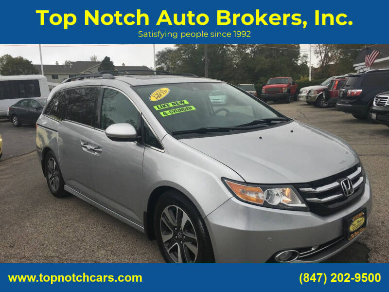 2015 Honda Odyssey for sale at Top Notch Auto Brokers, Inc. in Palatine IL