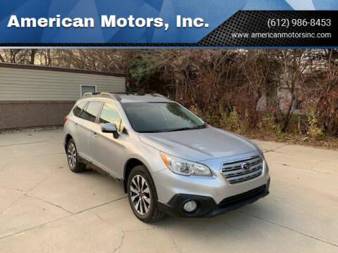 2016 Subaru Outback for sale at American Motors, Inc. in Farmington MN
