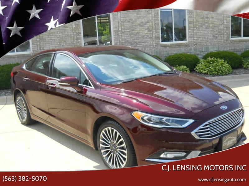 2017 Ford Fusion for sale at C.J. Lensing Motors Inc in Decorah IA