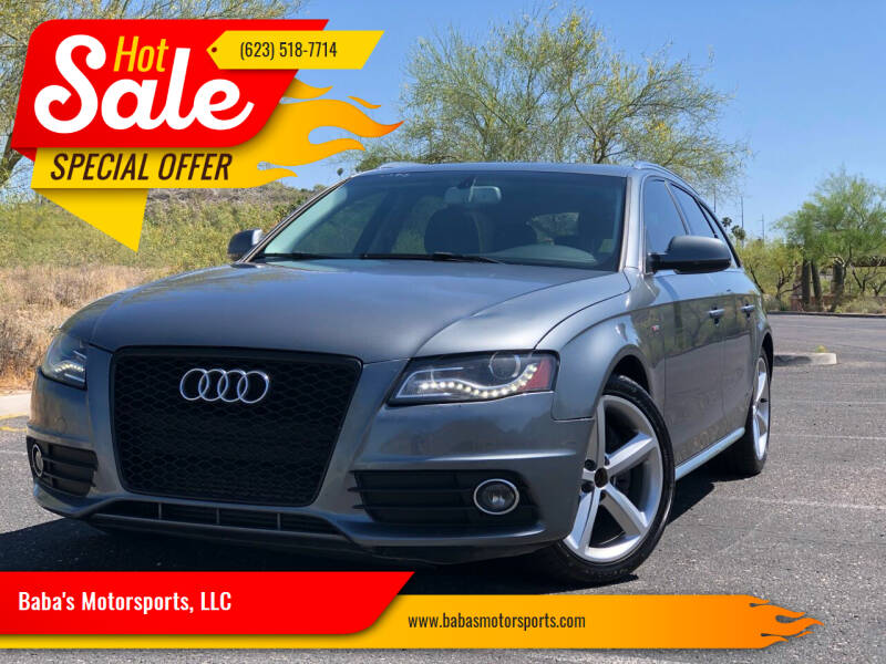 2012 Audi A4 for sale at Baba's Motorsports, LLC in Phoenix AZ