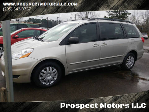 2010 Toyota Sienna for sale at Prospect Motors LLC in Adamsville AL