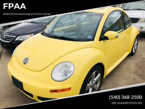 2006 Volkswagen New Beetle for sale at FPAA in Fredericksburg VA