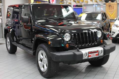 2013 Jeep Wrangler Unlimited for sale at Windy City Motors in Chicago IL