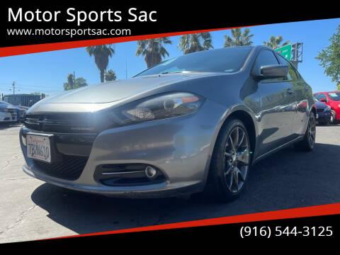 2013 Dodge Dart for sale at Motor Sports Sac in Sacramento CA