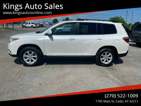 2012 Toyota Highlander for sale at Kings Auto Sales in Cadiz KY