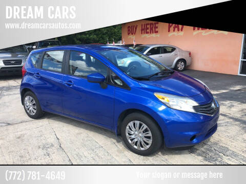 2015 Nissan Versa Note for sale at DREAM CARS in Stuart FL