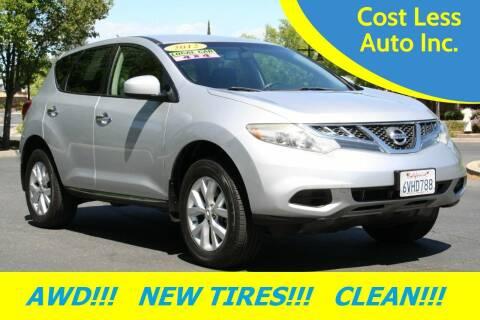 2012 Nissan Murano for sale at Cost Less Auto Inc. in Rocklin CA