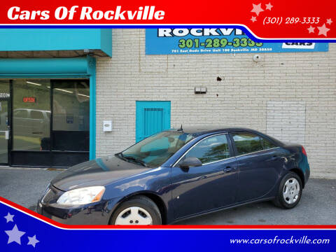 2008 Pontiac G6 for sale at Cars Of Rockville in Rockville MD