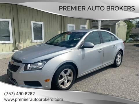 2013 Chevrolet Cruze for sale at Premier Auto Brokers in Virginia Beach VA