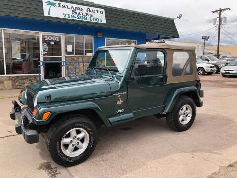 1999 Jeep Wrangler for sale at Island Auto Sales in Colorado Springs CO