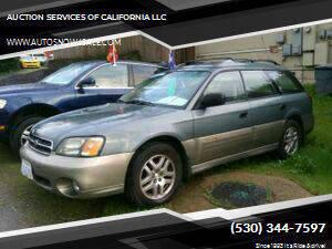 2002 Subaru Outback for sale at AUCTION SERVICES OF CALIFORNIA in El Dorado CA