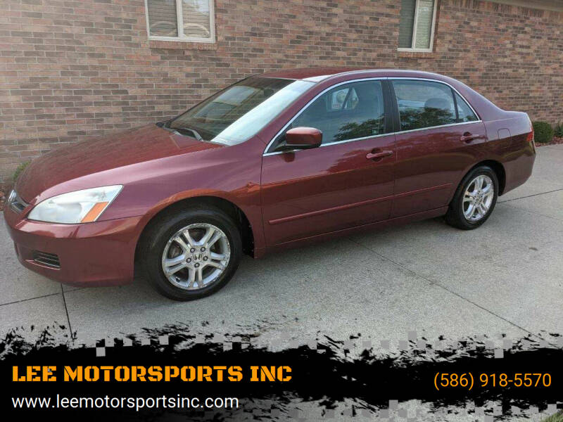 2006 Honda Accord for sale at LEE MOTORSPORTS INC in Mount Clemens MI