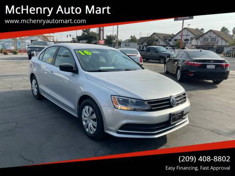2016 Volkswagen Jetta for sale at McHenry Auto Mart in Turlock CA