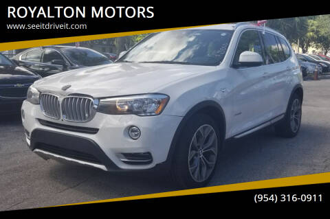 2016 BMW X3 for sale at ROYALTON MOTORS in Plantation FL