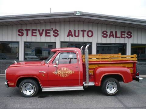1979 Dodge D150 Pickup for sale at STEVE'S AUTO SALES INC in Scottsbluff NE