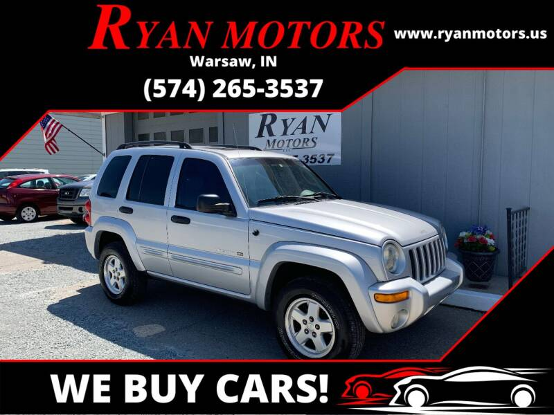 2002 Jeep Liberty for sale at Ryan Motors LLC in Warsaw IN