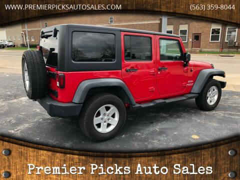 2011 Jeep Wrangler Unlimited for sale at Premier Picks Auto Sales in Bettendorf IA