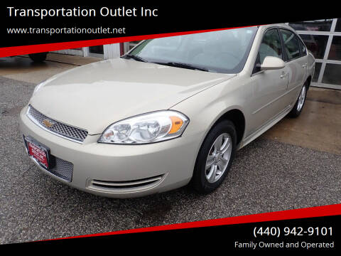 2012 Chevrolet Impala for sale at Transportation Outlet Inc in Eastlake OH