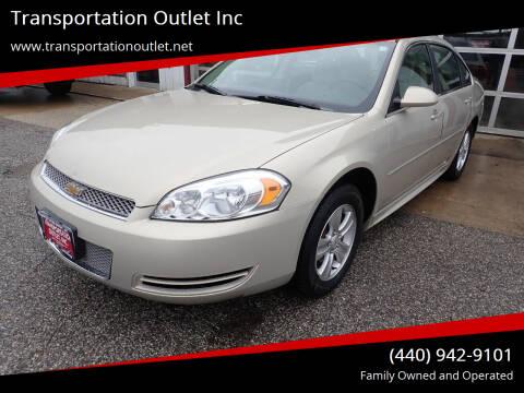2012 Chevrolet Impala for sale at Transportation Outlet Inc in Eastlake OH