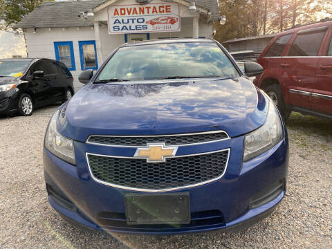 2012 Chevrolet Cruze for sale at Advantage Motors in Newport News VA
