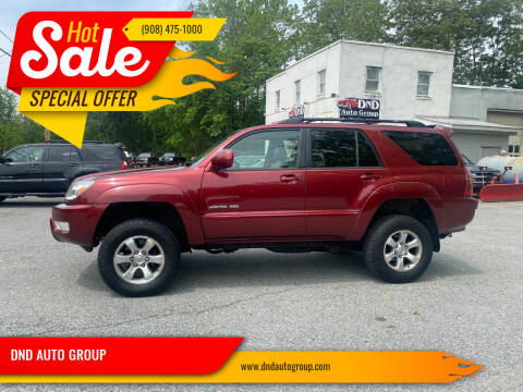 2005 Toyota 4Runner for sale at DND AUTO GROUP in Belvidere NJ