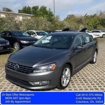 2013 Volkswagen Passat for sale at Or Best Offer Motorsports in Columbus OH