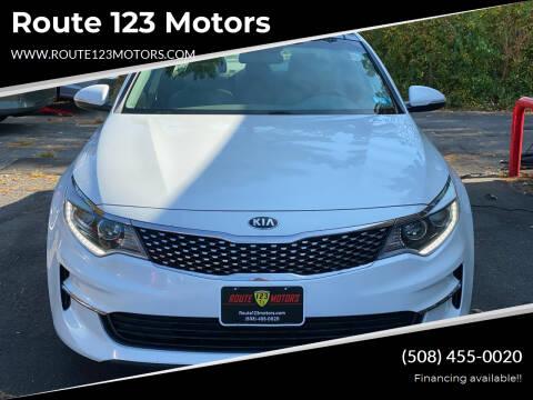 2016 Kia Optima for sale at Route 123 Motors in Norton MA
